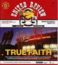 MANCHESTER UNITED v CARDIFF CITY Premier League 2013/14 MINT