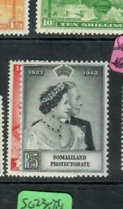 SOMALILAND (P1509B)  KGVI  SILVER WEDDING SET  SG 119-120    MOG