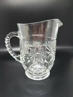 Anchor Hocking Vintage Creamer Juice Milk Small Pitcher in Star of David Pattern