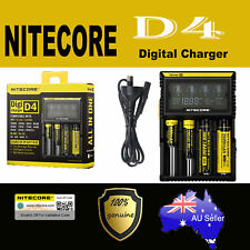 NITECORE D4 LCD Smart Battery Digi Charger IMR Li-ion Lifepo4 Ni MH CD 18650 AAA