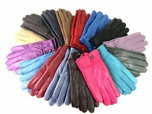 Lorenz High Quality Genuine Super Soft Leather Ladies Gloves Fleece Lined Warm