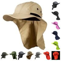 Sun Flap Cap Bonnie Snap Neck Cover Hat Fishing Hiking Garden Outdoor Camping