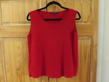 Eileen Fisher Sleeveless Silk Blend Top in Red===size M