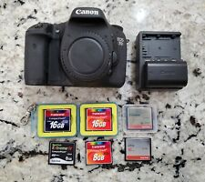 Canon EOS 7D 18.0 MP Digital SLR Camera - Black (Body Only) - 6 memory cards
