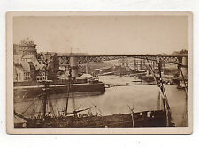 PHOTO CABINET -  BREST Bateau Port Pont Mer Ville Vers 1900 Photo ancienne