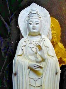 Power of 3,Trinity Kwan Yin,Good Luck,Guan,Quan Yen,HEALING Statue,n,White Tara