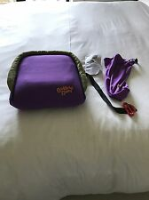Gently Used BubbleBum Booster Kindersitz lila aufblasbare Portable Bubble Bum