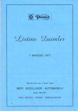 Daimler Sovereign (XJ6) 2.8 4.2 Limousine 1971 Italian prices & options list