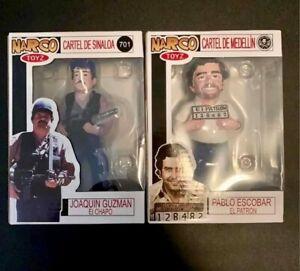 """***El Patron Pablo Escobar & Joaquin """"El Chapo"""" Guzman Figures***"""