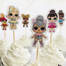 12x LOL Surprise Doll Cupcake Food Topper Pick. *HANDMADE* Party Lolly Bag