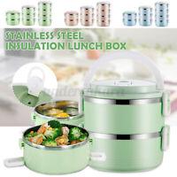 Thermo Lunchbox 2/3/4 Etagen Isolierbehälter Speisegefäß Thermobehälter Brotdose