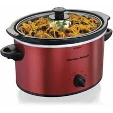 Hamilton Beach 3 Quart Slow Cooker | Model 33230 Red Crock Pot Home Appliance