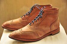 Allen Edmonds 7135 Cronmok Wingtip Boots Light Brown Sz 14 E