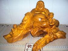 Hand Carved Wood Art Buddha Statue - Sculpture Buddha -Vietnam Carving