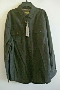 Mens  Outdoor Life   Shirt Long Sleeves  Size Large Cotton Brown