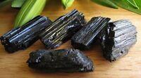 1 Raw Black Tourmaline Mineral Specimen Gemstone Reiki Chakra Crystal Radiation