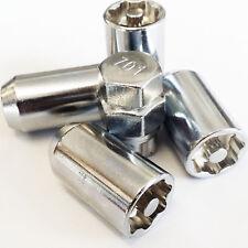 Silver Tuner Locking Wheel Nuts M12x1.5 Honda Mazda Ford Toyota Mitsubishi Lexus