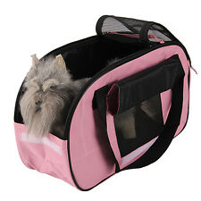 Bag Carrier for Pet Puppy Dog Cat Carry Tote Shoulder Travel Outdoor Pink