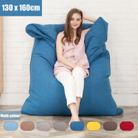 Large Single Bean Bag Chairs Bed for Adults Kids Couch Sofa Cover Indoor Lounge