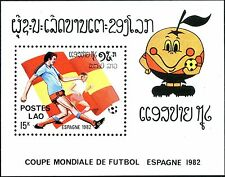 "1982 LAOS Bloc N°67** Football ""Espagne 1982"" TB,  Soccer world cup Sheet MNH"
