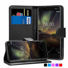 Case Nokia 3 5 6 7 8 1 2 Premium Leather Wallet Flip Mobile Phones Cover Stand