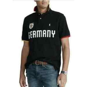 Men's Polo Shirt Ralph Lauren Germany black cotton Size L New