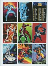 1992 Marvel Masterpieces trading card singles, $1.95 each, NM/M