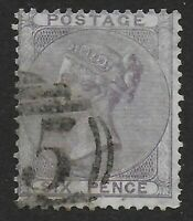 SG70. 6d.Pale Lilac. (No Corner Letters) Very Fine Used. Cat.£110.  Ref.08166