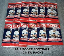 12 PACKS - 2011 SCORE Football  Trading Cards