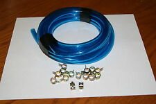 Yamaha PW50 PW80  xv xs xj fj  3/16 FUEL LINE blue CLEAR  5FT AND 15 CLAMPS