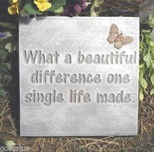 Memorial mold What a beautiful difference plaque plaster concrete mould