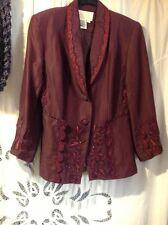 Nina Austin  Purple , Beaded , Embroidered Jacket size 8