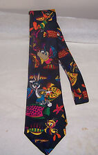 ~~ LOONY TUNES MANIA TIE ~~ CLASSIC  BUGS BUNNY AND HIS BUDDIES AT THE BEACH
