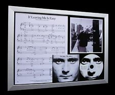 PHIL COLLINS If Leaving Me Is Easy QUALITY CD FRAMED DISPLAY-EXPRESS GLOBAL SHIP