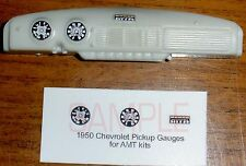 1950 CHEVROLET 3100 PICKUP TRUCK GAUGE FACES for 1/25 scale AMT KITS