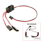 Y Split Line W/ Switch Channel Extension Cords Cable Light Wire For RC Climbing