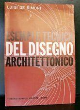 De Simoni ESEMPI E TECNICA DEL DISEGNO ARCHITETTONICO libro belle arti