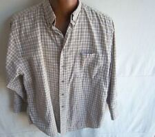 SMITH-FORESTER - Men's  Brown/Grey Plaid L/S Shirt - SIZE 16-1/2 (32-33)