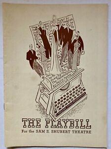 1939 Philadelphia Story Hepburn Booth Playbill Shubert Theatre NY