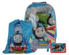 Thomas & Friends 3pc Kids Luggage Set Wheeled Bag, Wallet & Trainer Bag