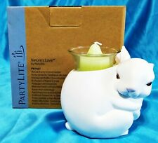 New! PartyLite Nature's Love White Rabbit Mama Bunny Votive Candle Holder