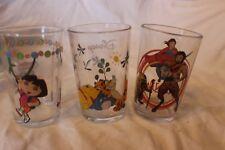 3 Amora Disney Pixar Glass Tumbler Narnia Dora