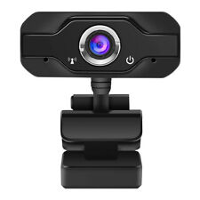HD 1080P Webcam Mini Computer PC Web Camera with Microphone Rotatable Neck