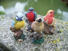 NA0832  FIGURINE  STATUETTE STATUE LOT  DE   4 OISEAU COLLECTION JARDIN 20%