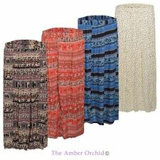 Polyester Casual Floral Maxi Skirts for Women