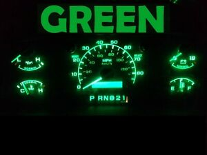 Gauge Cluster LED Dash kit Green For Ford 92 96 Bronco F150 F250 F350 Truck