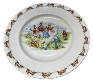 Family Portrait, Early Vintage Bunnykins Plate, Signed Barbara Vernon 1954