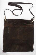 MAX MARA A4 sac à main cuir daim brun foncé TBE