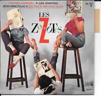 LES ZOZOTES - Tonton Caramel - TRES RARE EP FRENCH YEYE - PATHE EG 722  EX+ / NM