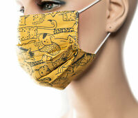 Kinder Mundmaske Tiere Früchte Muster Mehrfarbig Behelfsmaske Maske waschbar Neu